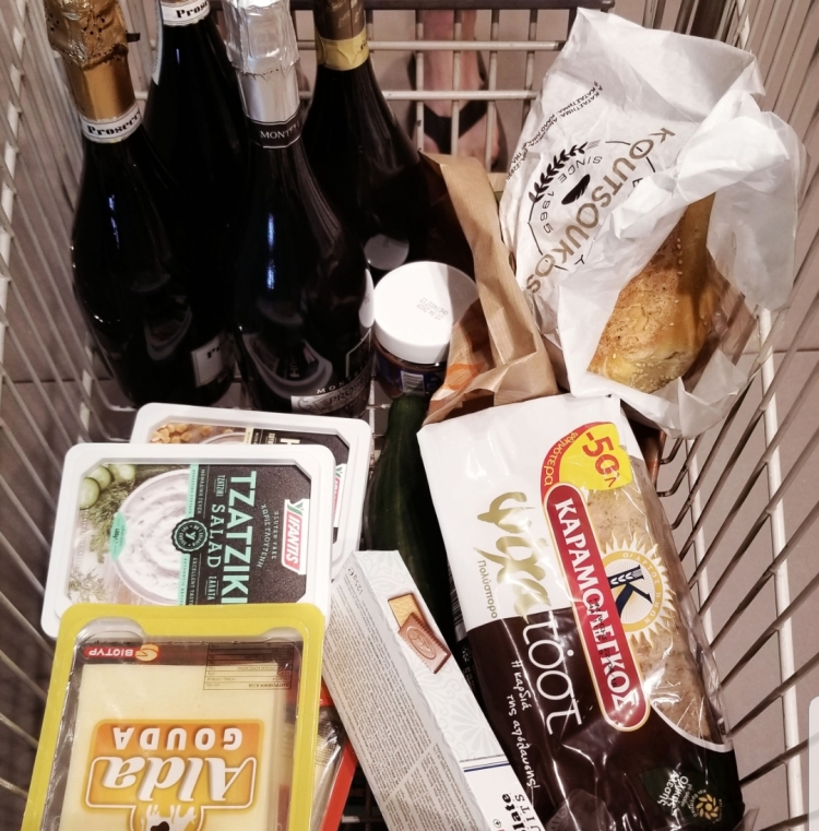 Grocery shopping at Flora Supermarket